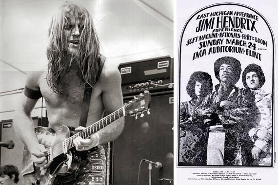 Left: Grand Funk Railroad's Mark Farner
