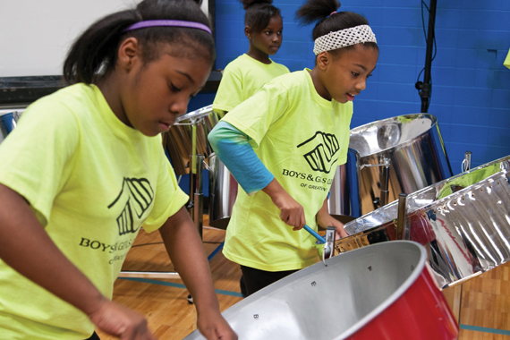 The Steel Drums Band practices hard at the Averill Unit to prepare for performances such as this.