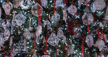 Tom Price and his business partner, Steve Lowry, have acquired crystal ornaments for their tree for the past 32 years. Their collection is comprised of 634 pieces.