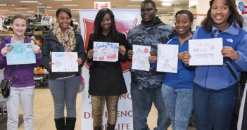 Winners of this year's Poster contest (l-r): Alisa Kagen, age 12; Latoia Collins, 13; Kiana Smith, 15; Colin Edwards, 16; Curtiece Doan, 16; Talyn Tureaud, 13.