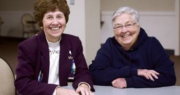 Sister Carol Weber (left) and Sister Judy Blake began the N.E.W. Life Center in 2002