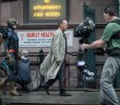 "Michael Keaton as ""Riggan"" on the set of BIRDMAN. Photo courtesy of Fox Searchlight Pictures"