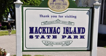Mackinac Island State Park Sign