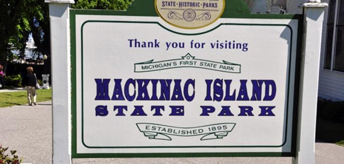 Mackinac Island State Park Sign