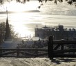 Mackinac Island Winter_View from top of Fort Hill 1