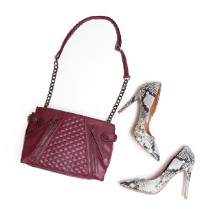 Bag: Nicole by Nicole Miller, JCP – $60 Shoes: SM, JCP – $10