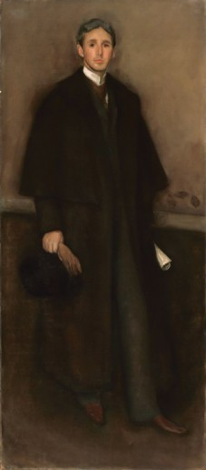 Arrangement in Flesh Color and Brown: Portrait of Arthur Jerome Eddy. By James Whistler, 1894.