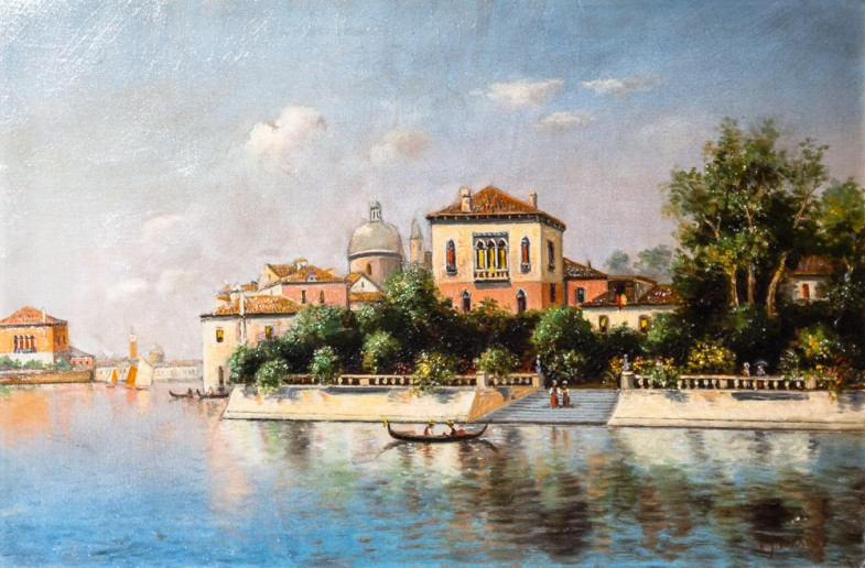 Oil on canvas, After Canaletto