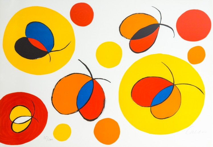 Lithograph, Alexander Calder, Nostalgic Flight, 20th Century