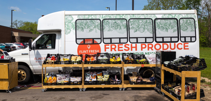 """Flint Fresh Mobile Market  <span class=""""subtitle""""> Healthy Food for Everyone!</span>"""