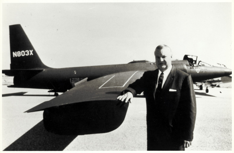 STANDING WITH AN EARLY VARIANT OF THE U-2