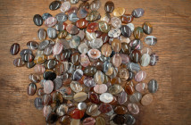 Lapidary is the term for the art of polishing gems and also for the person who does the polishing.