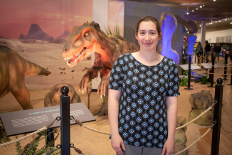 Caitie O'Neill, marketing manager at Sloan Museum and Longway Planetarium