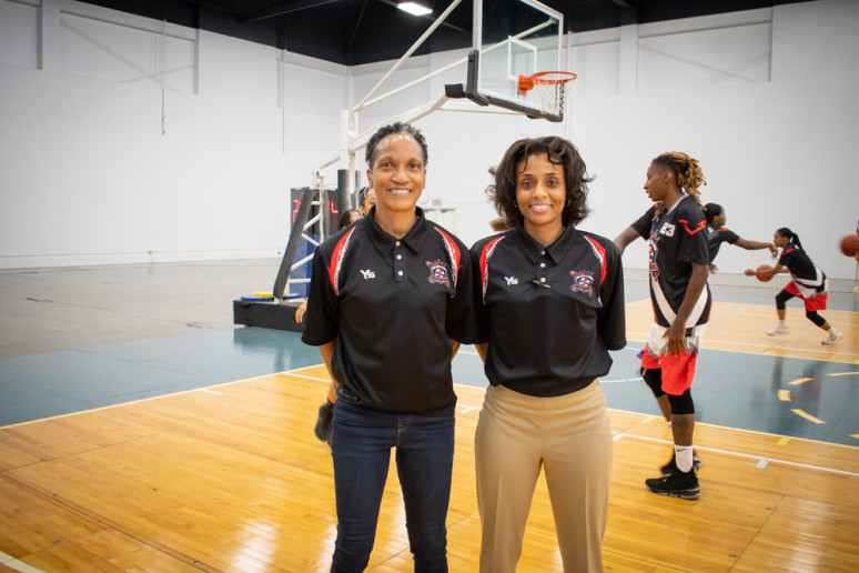 Coach Nicole Randolph and Assistant Coach Linell Jones-Mckenney