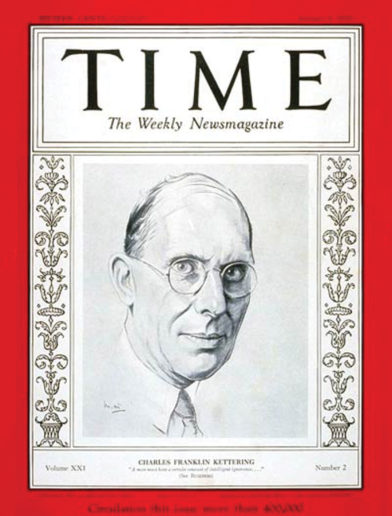 "Time magazine cover January 9, 1933. Title: ""Charles Franklin Kettering"""