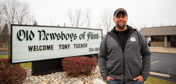 "Meet Tony Tucker <span class=""subtitle"">Executive Director of Old Newsboys of Flint</span>"