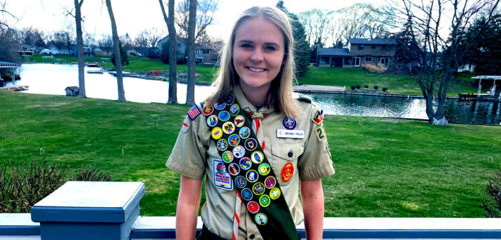"""Meet  Breanna Nicole Trecha <span class=""""subtitle""""> Genesee County's  First Female Eagle Scout</span>"""
